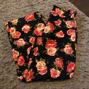 Forever 21 floral stretchy flowy pant